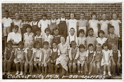 1935 Calvert City 1st-3rd Grades, Marshall County, Kentucky