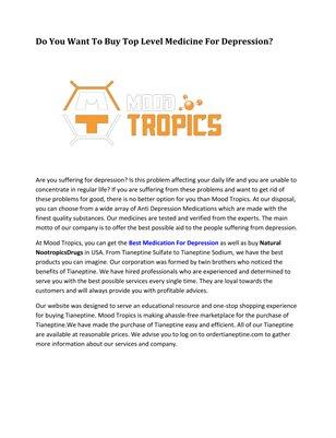 MoodTropics - Tianeptine