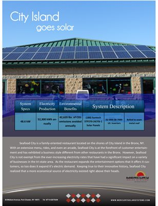 Seafood City Restaurant Goes Solar With Mercury Solar Systems Case Study