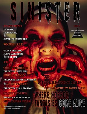 SINISTER Magazine Issue#4-Misteriously Bad Cover