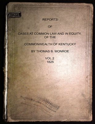 1825 VOL.2 COURT OF APPEALS, COMMON WEALTH OF KENTUCKY