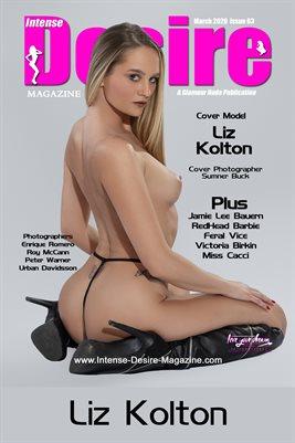 INTENSE DESIRE MAGAZINE COVER POSTER - Cover Model Liz Kolton - March 2020