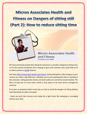 Micron Associates Health and Fitness