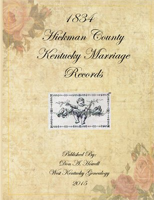 1834 Hickman County, Kentucky Marriage Records