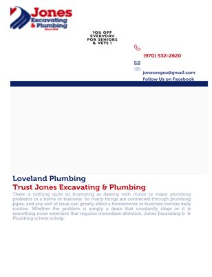 Sewer Line Repair in Loveland