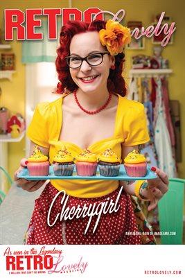 Retro Lovely No.96 – Cherrygirl Cover Poster