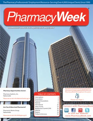 Pharmacy Week, Volume XXVII - Issue 15 & 16 - April 22, 2018 - May 5, 2018