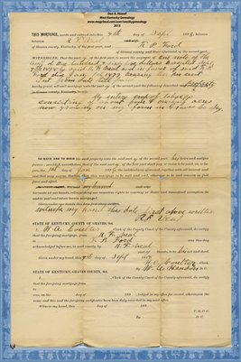 1898 Mortgage, A.F. Veal & F.P. Ford, Graves County, Kentucky