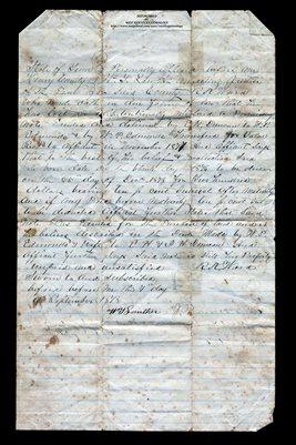1878 Henry County, Tennessee Affidavit, R.K. Ward, E.H. Duncan, W.P. Edmunds