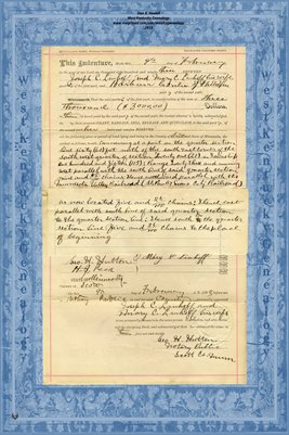 No. 6235 1893 Quit-Claim Deed Joseph C. Linhoff and wife to Barbara Conter, Scott County, Minnesota