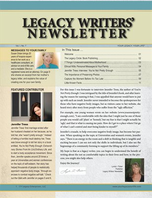 Legacy Writer's Newsletter 1:7