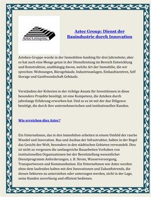 Aztec Group: Dienst der Bauindustrie durch Innovation