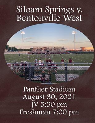 JV/9th Grade vs. Bentonville West 08/30/21