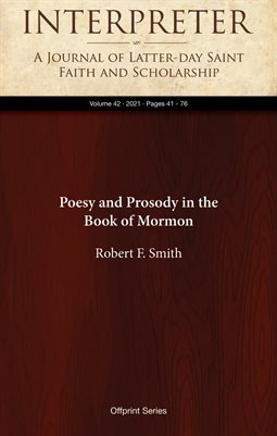 Poesy and Prosody in the Book of Mormon