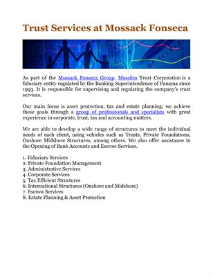 Trust Services at Mossack Fonseca