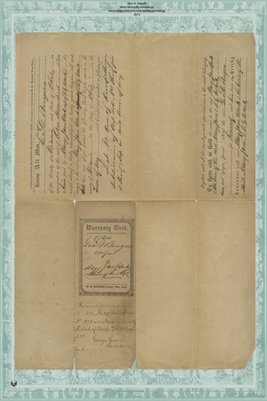 1852 Deed, Burgess to Clark, Miami County, Ohio