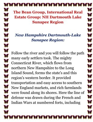 The Bean Group, International Real Estate Group : NH Dartmouth Lake Sunapee Region