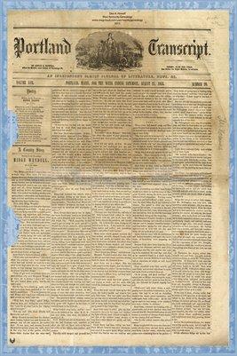 (PAGE 1-2) PORTLAND TRANSCRIPT, AUG.27, 1853