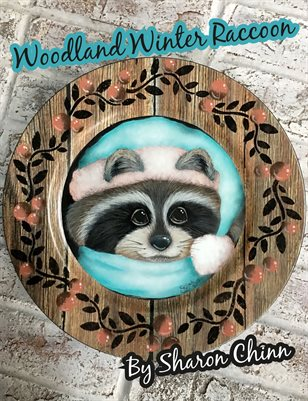 Woodland Winter Raccoon Painting Pattern - Sharon Chinn