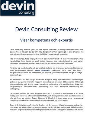 Devin Consulting Review: Visar kompetens och expertis
