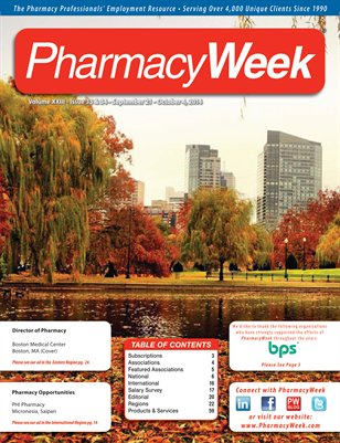 Pharmacy Week, Volume XXIII - Issue 33 & 34 - September 21 - October 4, 2014