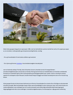 Corporate oppdraget til Aztec Group