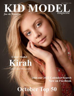 Kid Model Magazine Issue 13 Volume 9 2021 October Top 50