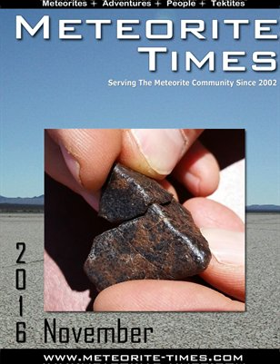 Meteorite Times Magazine - November 2016 Issue