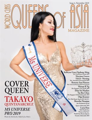 World Class Queens of Asia Magazine Issue 4 with Takayo Quintanarcruz Ms Universe Pro 2019