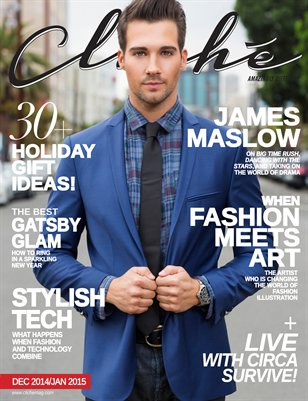 Cliché Magazine - Dec 2014/Jan 2015 (James Maslow Cover)