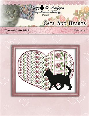 Cats And Hearts February Cross Stitch Pattern