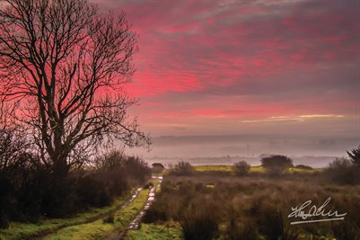 """Sunrise over County Clare, Ireland"" (POSTER)"