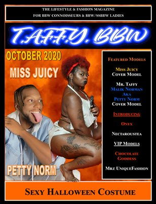 TAFFY BBW MAGAZINE- OCTOBER 2020 SEXY HALLOWEEN COSTUME