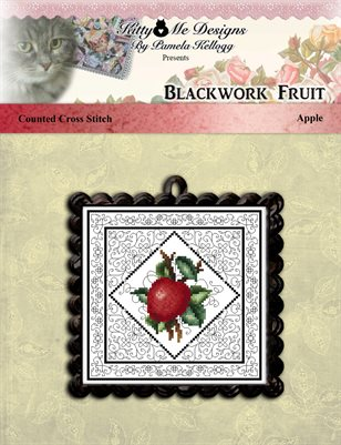 Blackwork Fruit Apple