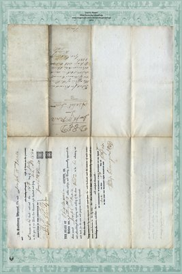 1846 Deed between Joseph Powell & Asahel Low in Miami County, Ohio