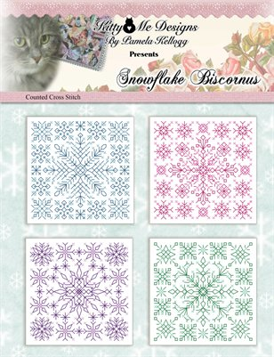 Snowflake Biscornus Counted Cross Stitch Pattern