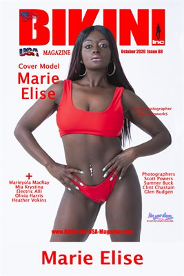 BIKINI INC USA MAGAZINE: BIKINI INC USA MAGAZINE COVER POSTER - Cover Model Marie Elise - October 2020