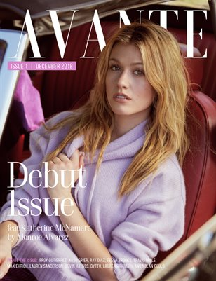 Avante Debut Issue: Katherine McNamara Cover