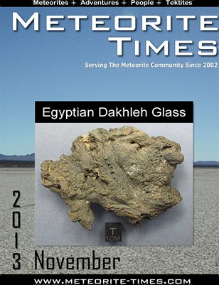 Meteorite Times Magazine - November 2013 Issue