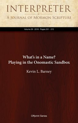 What's in a Name? Playing in the Onomastic Sandbox