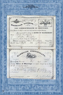 1886 T.E. HUBBARD - MATTIE VAUGHN