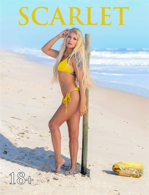 Scarlet - Yellow Bikini Beach Blonde Bombshell | Bad Girls Club Magazine