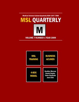 MSL Training & Business Acumen 2009