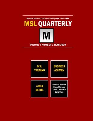 MSL Training & Business Acumen 2009