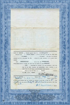 (PAGES 3-4) WARRANTY DEED, G.W. ADAM TO W.W. WILLIS, HARDIN COUNTY, TENNESSEE