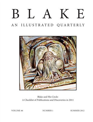 Blake/An Illustrated Quarterly vol. 46, no. 1 (summer 2012)