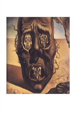 face war salvador dali The face of war – drawing for the nightmare scene in the film moontide (1941) a postage stamp designed by dali for the french mail (1978).