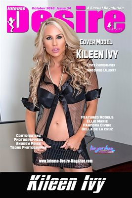 INTENSE DESIRE MAGAZINE COVER POSTER - Cover Model Kileen Ivy - October 2018