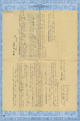 1860 Deed, Edward Allen to Lewis Colvin, Miami County, Ohio
