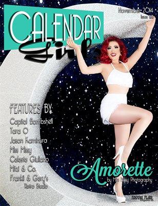 Calendar Girls - Issue Two - November 2014 - Amorette Cover